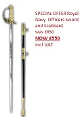 Royal Navy Officers Sword & Scabbard by Windlass