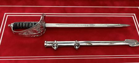 Framed Infantry Officers Dress Sword Letter Opener