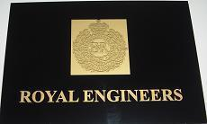 Royal  Engineer Laser Etched Plaque