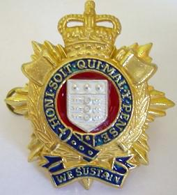 RLC Officers Cap Badge